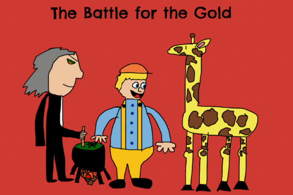 The battle for the gold art