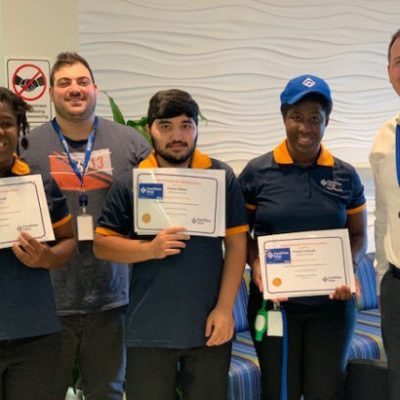 Celebrating the success of our head office cleaning team